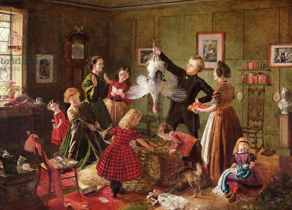 The Christmas Hamper (oil on canvas)