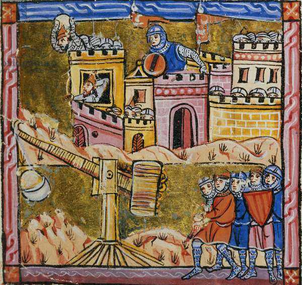 Ms 828 fol.33r Siege of Antioch, from the Estoire d'Outremer (vellum)