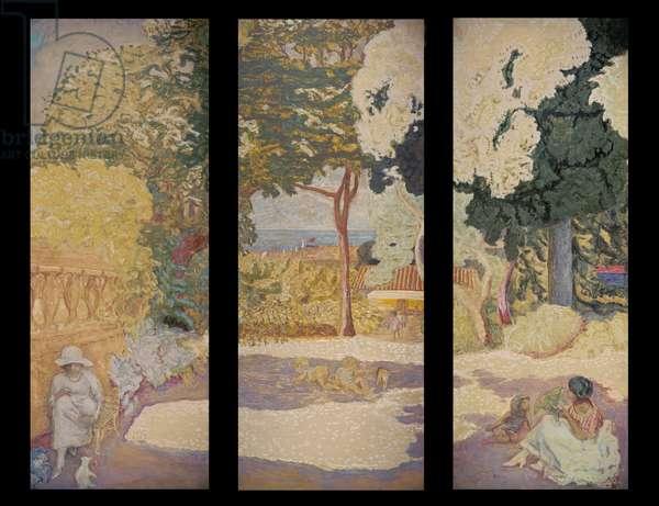 On the Mediterranean (triptych), 1911 (oil on canvas)