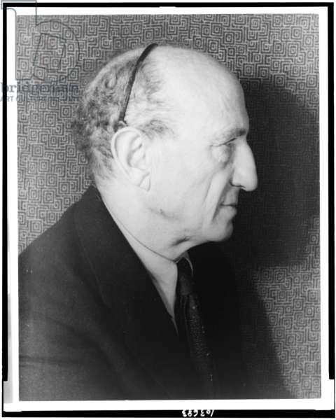 Portrait of Leo Stein (1872-1947), 1937 (gelatin silver print)