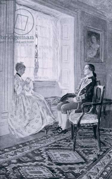 Washington and Mary Philipse, illustration from 'Colonel Washington' by Woodrow Wilson, pub. in Harper's Magazine, 1896 (litho)