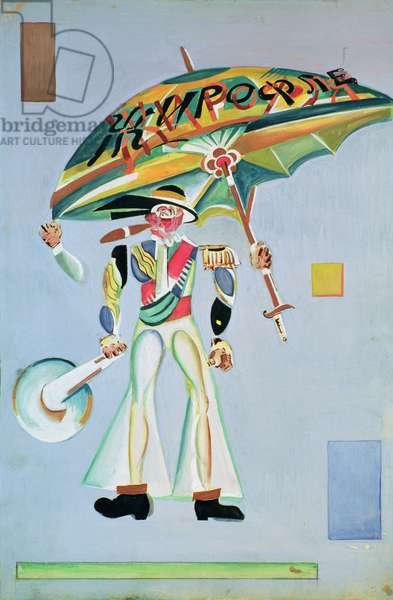 Costume design for the operetta 'Girofle-Giroflia by Alexandre Charles Lecocq, 1922 (gouache on paper)