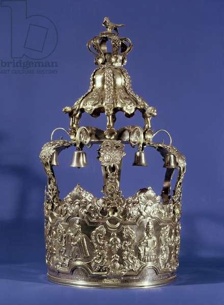 Torah Crown, Eastern European, early 19th century (silver)