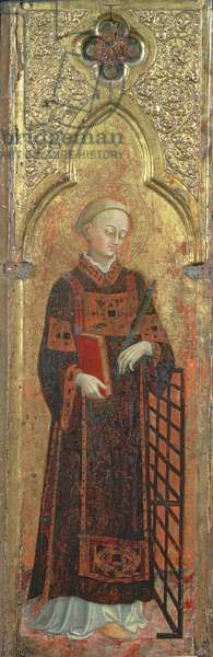 St. Lawrence, originally a panel of a polyptych for Church of San Francesco in Borge Sansepolcro, c.1392-1450 (tempera on panel)