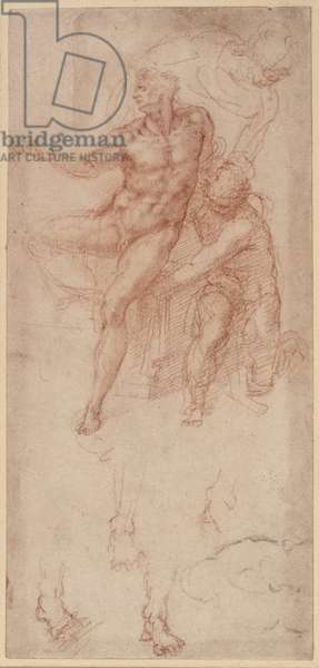 Figure Studies (red chalk on paper)