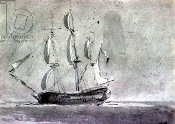 A ship under Sail