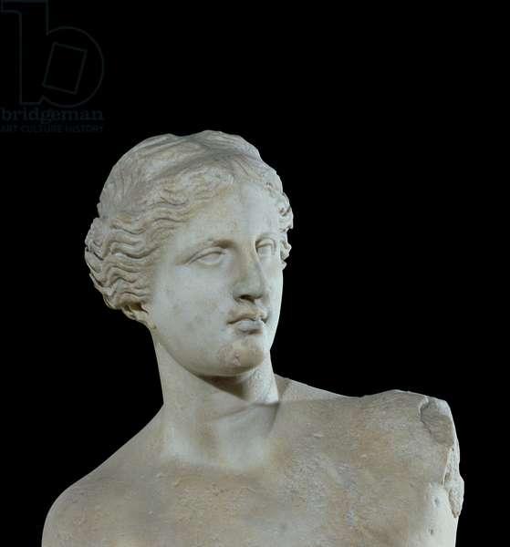 Head of the Venus de Milo, c.100 BC (marble) (detail)