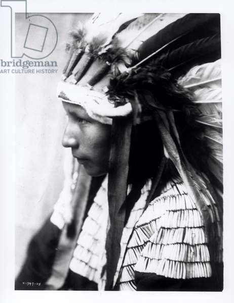 The daughter of Bad Horse, c.1905 (b/w photo)