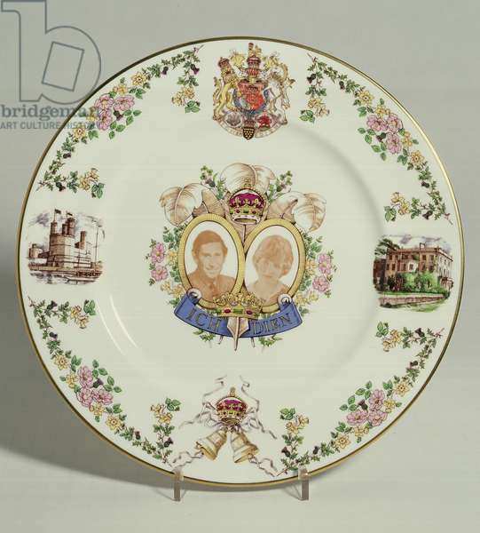 Caverswall limited edition plate commemorating the marriage of Lady Diana Spencer to Charles, Prince of Wales, 1981 (china)