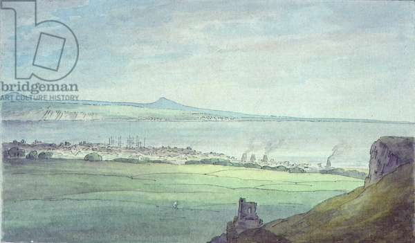 Leith, with Kirkaldy on the coast of Fifeshire (watercolour)