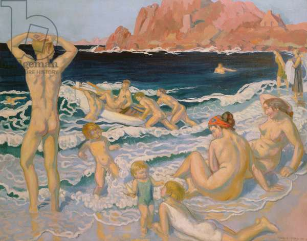 Beach Scene with a Boat