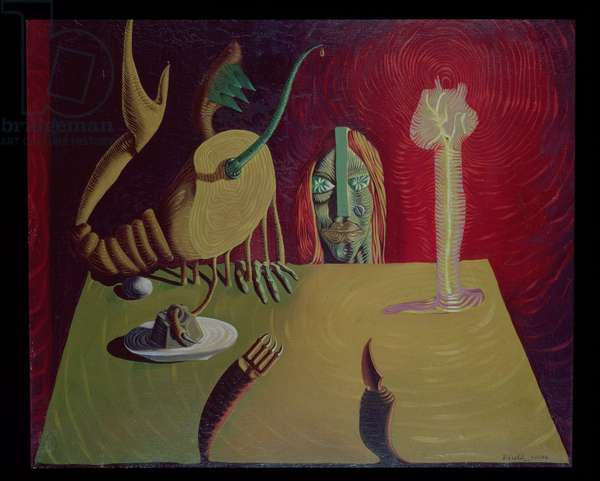 The Night Game, 1936 (oil on canvas)
