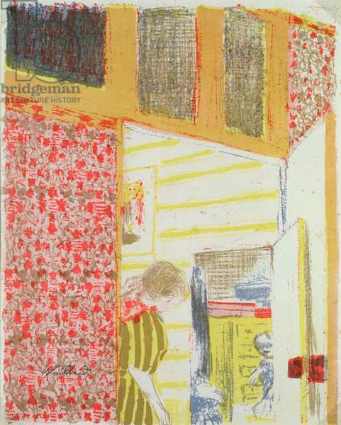 Interior in Shades of Pink III (litho)