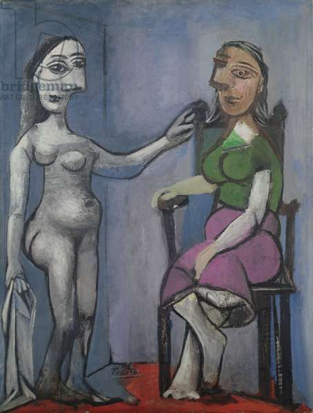 Nude Standing and Woman Sitting, 1939 (oil on canvas)