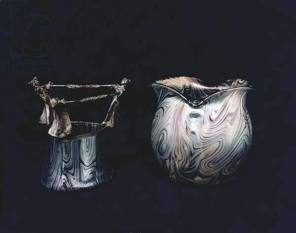 Vases by Loetz or Zasche, c.1900