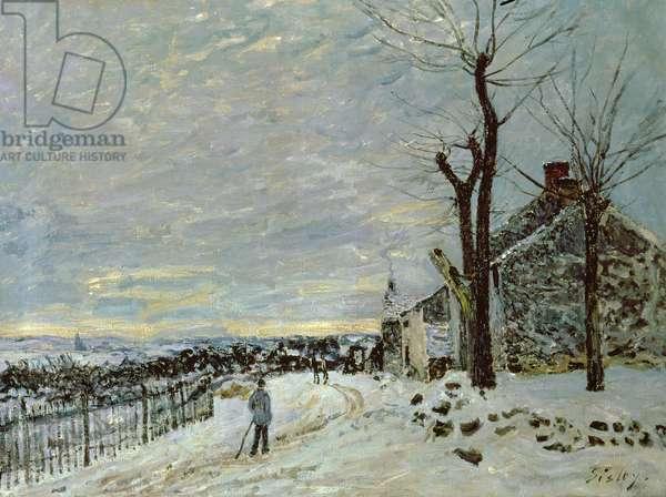 Snow at Veneux-Nadon, c.1880 (oil on canvas)
