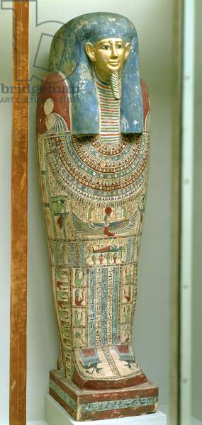 Inner coffin of Djeho, son of Psammetichus, from Akhmim, c.250 BC (painted wood)