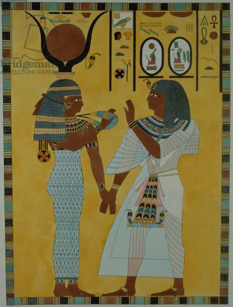 Illustration from the Tombs of the valley of the Kings of Thebes discovered by G. Belzoni, published 1820 (colour litho)