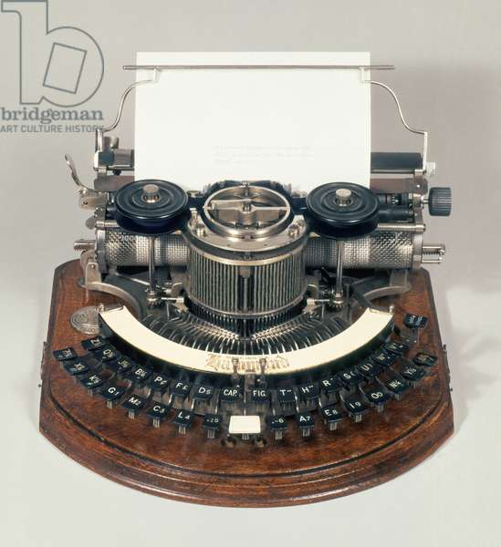 Hammond typewriter, with the ideal keyboard, c.1895