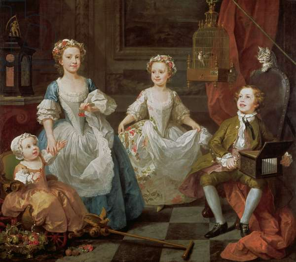 The Graham Children, 1742 (oil on canvas)