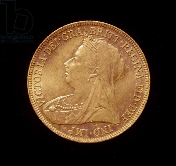 Penny coin, with the head of Queen Victoria, 1895-98