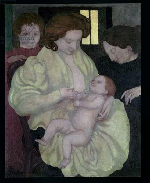 Maternity, 1895 (oil on canvas)