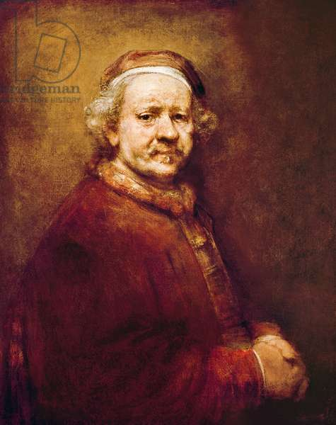 Self Portrait in at the Age of 63, 1669 (oil on canvas)