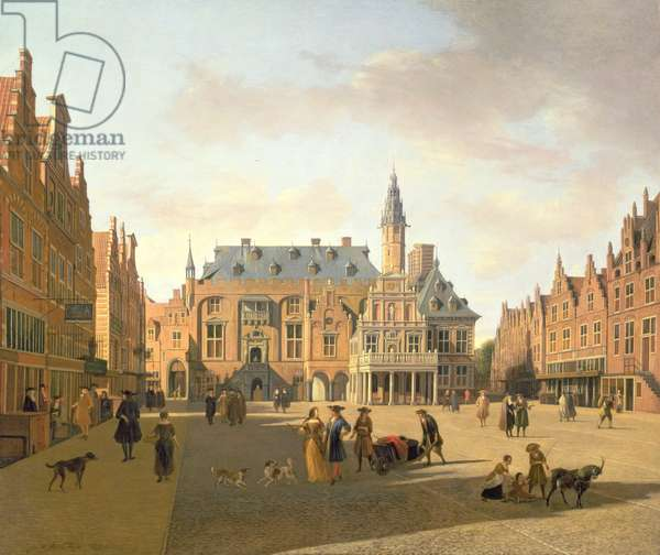 View of the Grote Markt in Haarlem (oil on canvas)