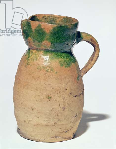 Tudor jug, 1550-1600 (earthenware)