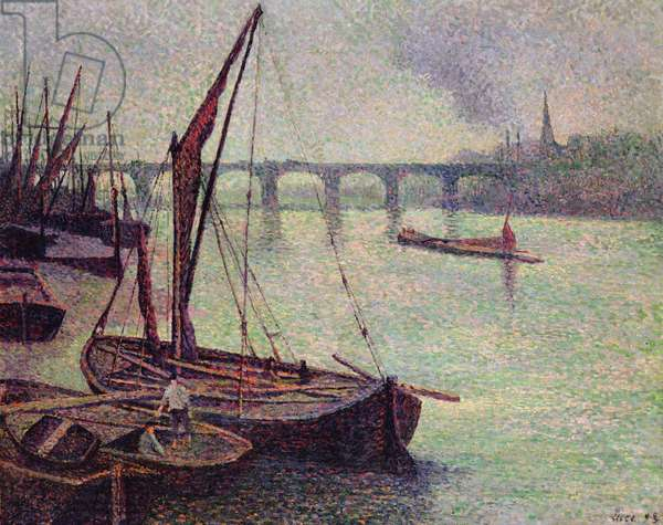 The Thames at Vauxhall Bridge, 1893 (oil on canvas)