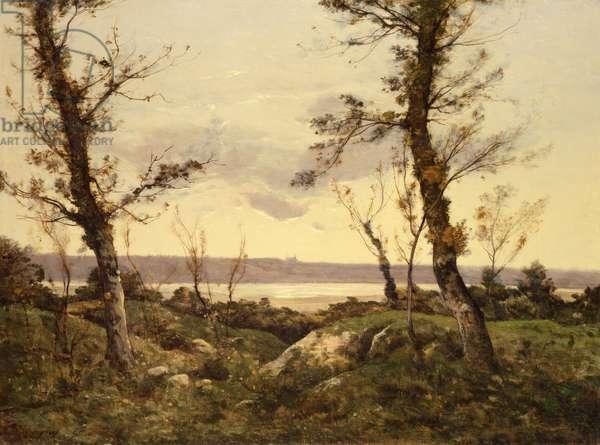 The Estuary, 1895 (oil on canvas)