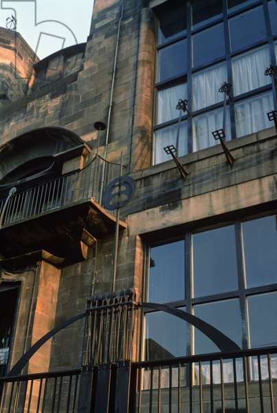 Detail of the ironwork of the North Facade, built 1897-99 (photo)