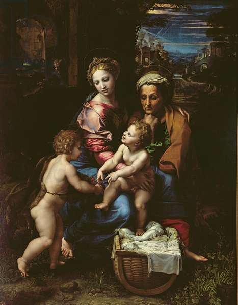 The Holy Family (La Perla) c.1518 (oil on panel)