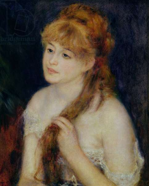 Young Woman Braiding her Hair, 1876 (oil on canvas)