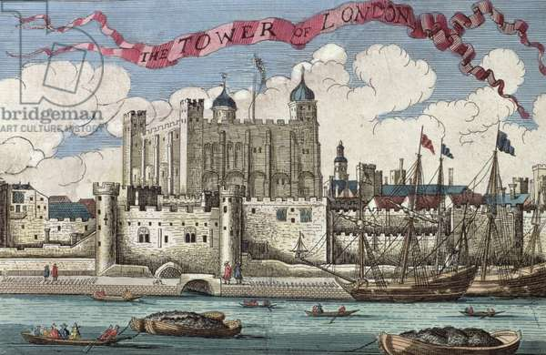 Tower of London Seen from the River Thames, from 'A Book of the Prospects of the Remarkable Places in and about the City of London', c.1700 (engraving)