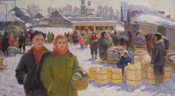 Market Day, 1982 (oil on canvas)