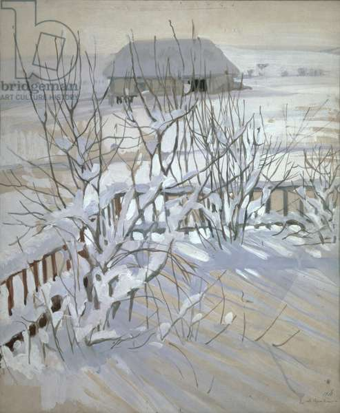 A Winter View, 1910 (oil on canvas)