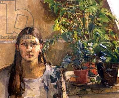 Girl with plants, 1975-6