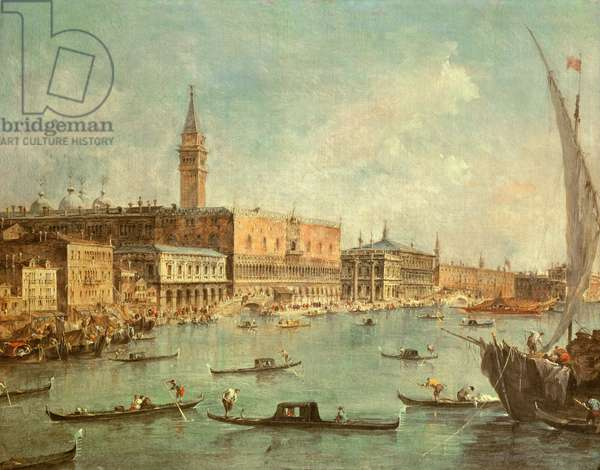 The Doge's Palace and the Molo from the Basin of San Marco, Venice, c.1770 (oil on canvas)