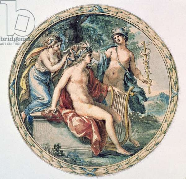 Apollo with his Lyre, Mercury and a Muse