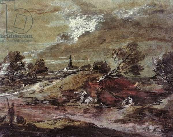 Landscape: Storm Effect, 18th century (watercolour)