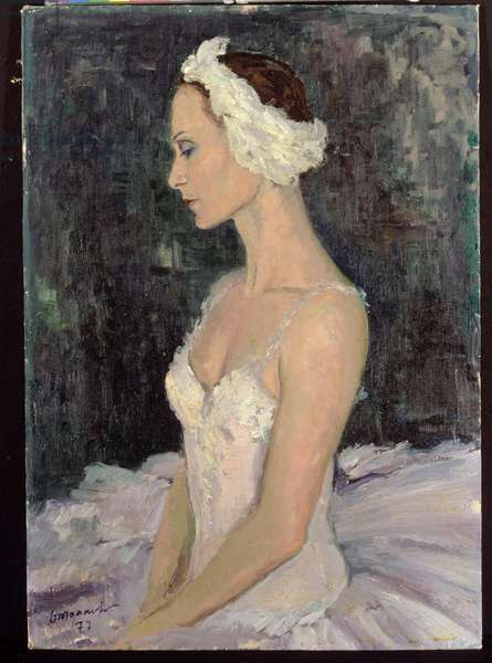 Ballet Dancer Riabinkina, 1977 (oil on canvas)
