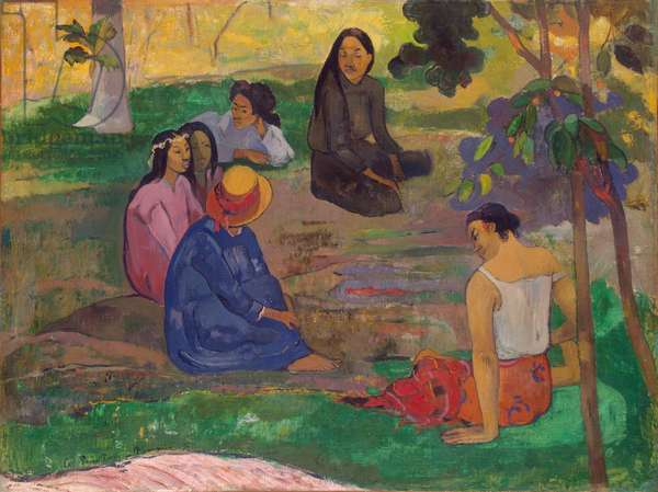 Les Parau Parau (The Gossipers), or Conversation, 1891 (oil on canvas)