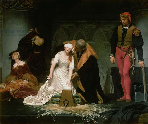The Execution of Lady Jane Grey, 1833 (oil on canvas)