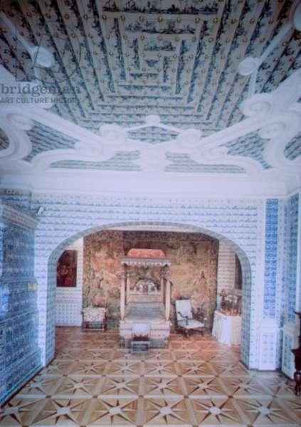 Bedroom in Prince Menshikov's Palace, St. Petersburg, designed by Gottfried Schadel