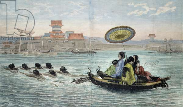 The Japanese Barque (coloured litho)
