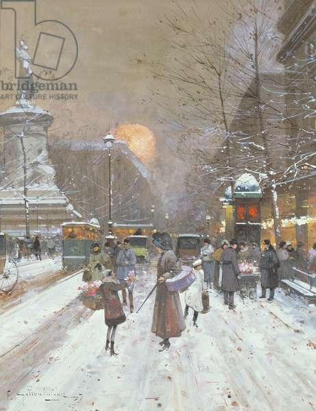Parisian Snow Scene