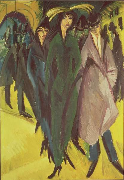 Women on the Street, 1915 (oil on canvas)