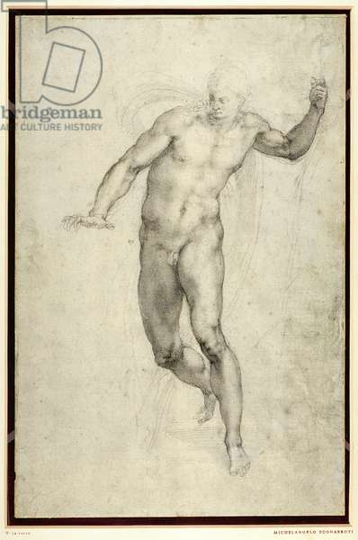 Study for The Last Judgement (W.54 recto) (pencil on paper)