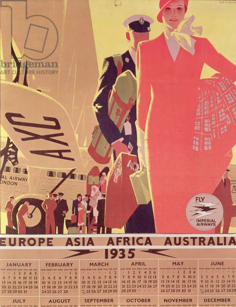 Imperial Airways Calendar Poster, 1935 (colour litho)